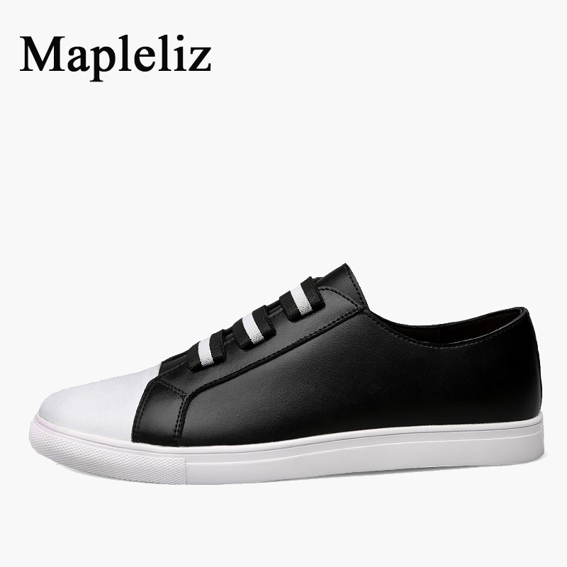 Здесь можно купить   Mapleliz Brand Full Grain Leather High Quality Men Casual Loafers Shoes Breathable Summer Lace-Up Solid Driving Shoes For Men  Обувь