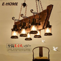 American Style Retro Industrial Wind Restaurant Bar Personality Network Coffee Shop Wooden Boat Living Room Chandelier