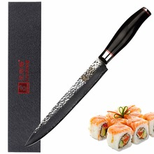 Sunlong 8 inch Slicing Knives VG10 steel core Damascus Steel  Filleting sharp Pattern kitchen knife Sushi