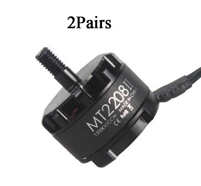 2Pairs Original Emax Cooling New MT2208 II 1500KV <font><b>2000KV</b></font> Brushless <font><b>Motor</b></font> CW CCW 3mm Shaft for FPV Multicopter RC Drone Acc image