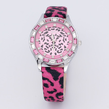 Julius Woman Ladies's Watch Japan Quartz Hours High-quality Trend Gown Clock Leather-based Bracelet Zebra Leopard Print Woman Present Field 581
