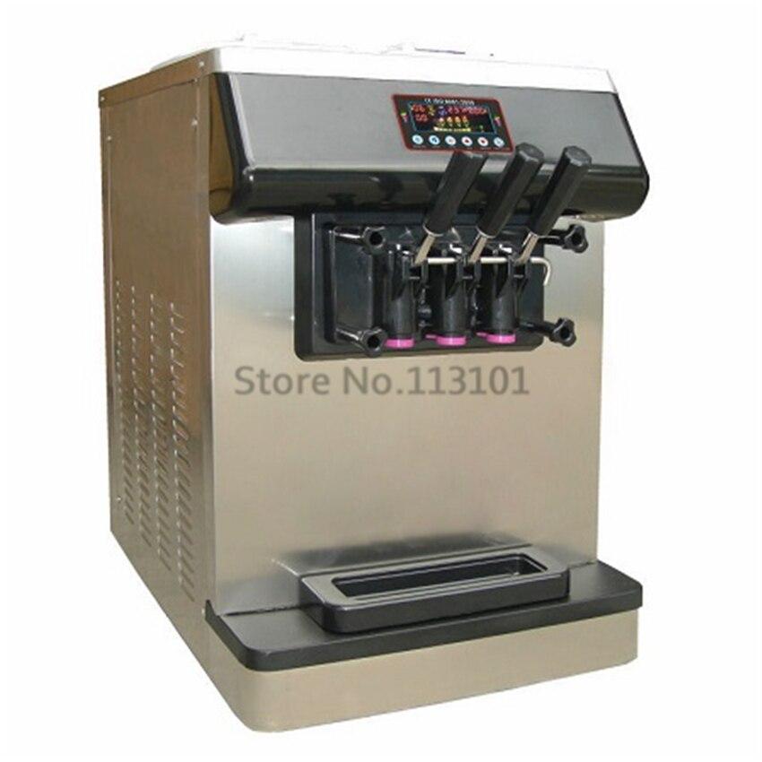 Countertop Ice Cream Machine Stainless Steel Soft Serve Ice Cream Making Machine