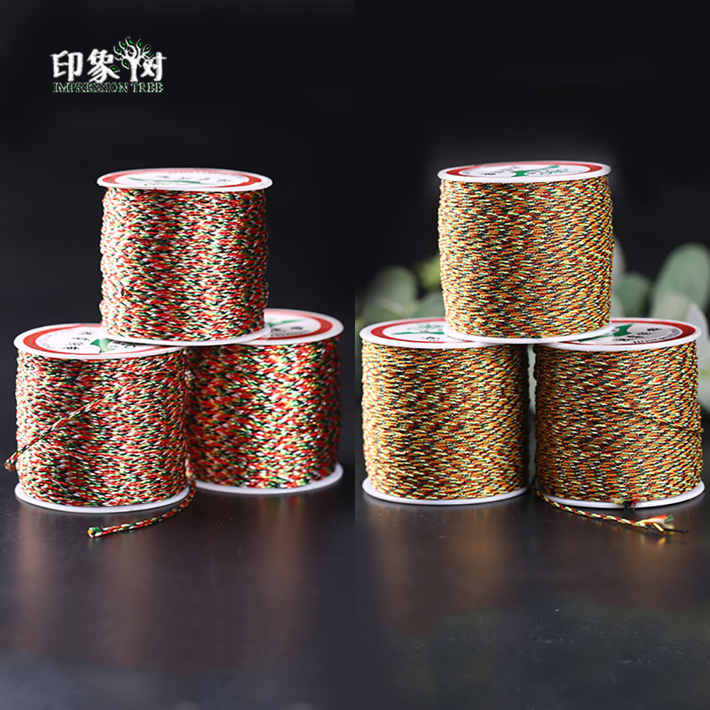 0.9/1.2MM 91/30M Colorful Rope Nylon Cords Thread Chinese Knot Macrame Cord DIY Bracelet Jewelry Making Materials 40043/40044