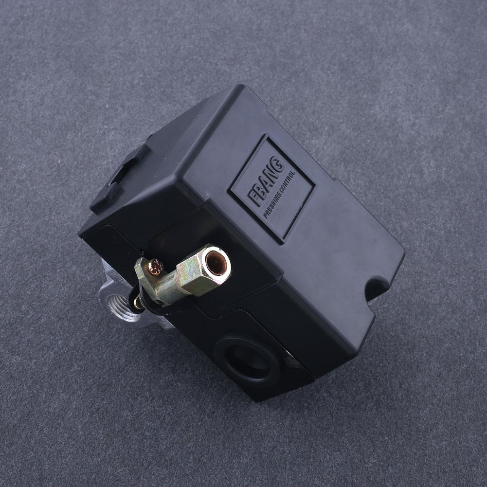Hot Pressure Switch Control Valve Air Compressor 90-120PSI 4 PORT HEAVY DUTY tools ferramentas vertical type replacement part 1 port spdt air compressor pump pressure on off knob switch control valve 80 115 psi ac220 240v