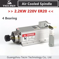 2 2KW Air Cooled Spindle 220V ER20 Collet Runout Off 0 01mm With 4 Ceramic Bearing