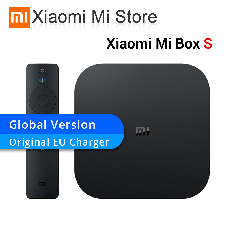 Version originale mondiale Xiaomi Box S Android 8.1 4 K Quad Core Smart TV Box 2 GB 8 GB HD mi 2.4G 5.8G WiFi Mali 450 1000Mbp