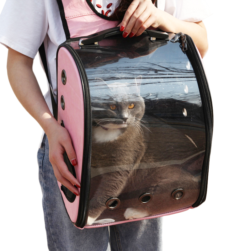 Portable Space Capsule Pet Backpack Travel Breathable Window Cat Carrier Dog Bag Pets Products PU