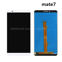 XIANHUAN Original Quality Black White LCD Display Glass Panel For Huawei Mate7 Free Delivery