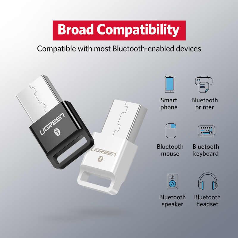 Ugreen USB Bluetooth Dongle מתאם 4.0 עבור מחשב מחשב רמקול אלחוטי עכבר Bluetooth מוסיקה אודיו מקלט משדר aptx
