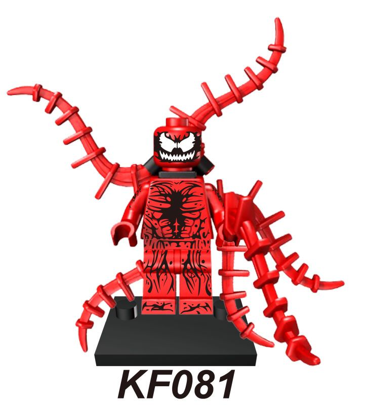 все цены на KF081 Building Blocks Super Heroes Spider-Man Carnage Figures Assemble Action Bricks Education Learning Toys for children Gift онлайн