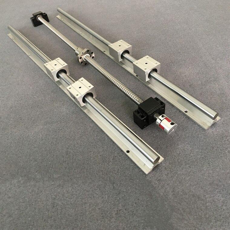 1 pc vis à billes SFU1605 & 2 pcs linéaire rail guide SBR16-200/300/400/500/ 600/700/1000mm + SBR16UU & BK12/BF12 et Coupleur 6.3*10mm