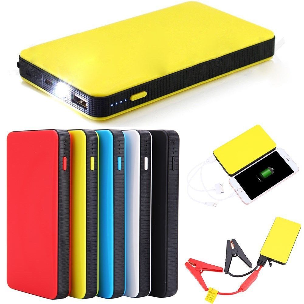 12V 20000mAh Mini Portable Multifunctional Car Jump Starter Power Booster Battery Charger Emergency Start Charger Colorful 20000mah car power jump start 12v auto engine eps emergency start battery source laptop portable charger utral thin