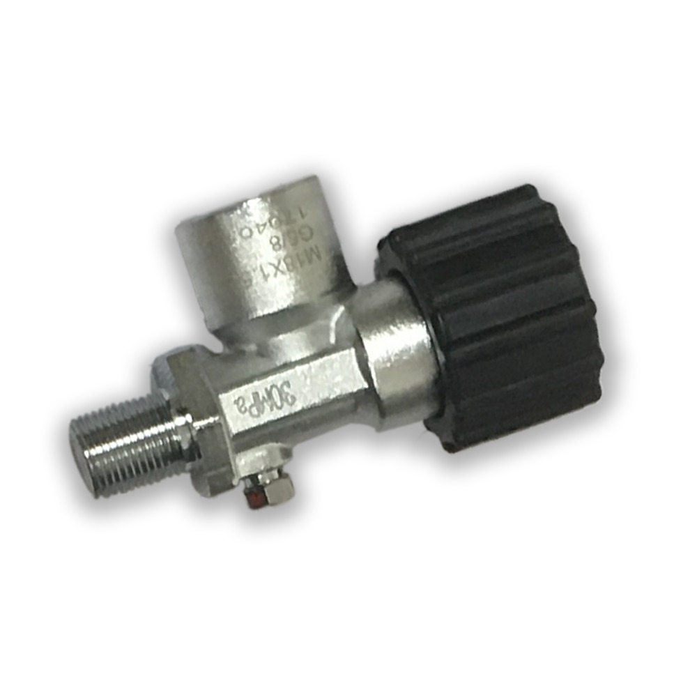 AC910 PCP Paintball Din Valve Tank ON/OFF Valves 30Mpa/4500psi M18*1.5 High Pressure Cylinders/CF Tank Carbon Fiber Cylinders