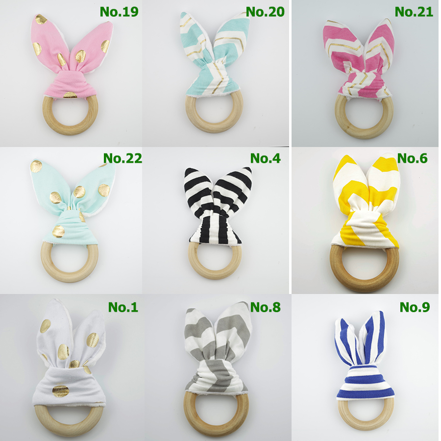 2016 Ring Baby Teethers Natural Wood Circle Teething
