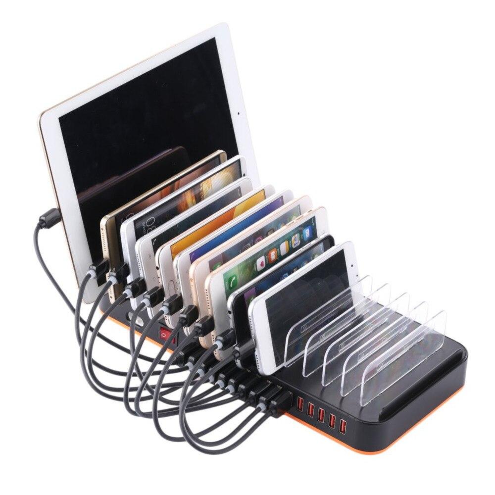 Universelle Intelligente USB Chargeur Hub 15 Ports de L'UE/ROYAUME-UNI/UA Plug Dock Mobile Téléphone Tablet Chargeur Puissance De Bureau adaptateur Socket avec support