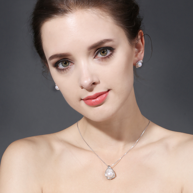 FENASYR Pearl Jewelry pearl pendant Jewelry Sets for Women Pearl Necklace Wedding Jewelry Set