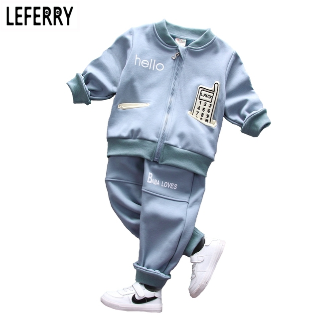Vlevet Winter Kids Clothes Boys Clothing Set Baby Clothes Toddler Boy Clothing Set Kids Boys Clothes Sets Children Sports Suits