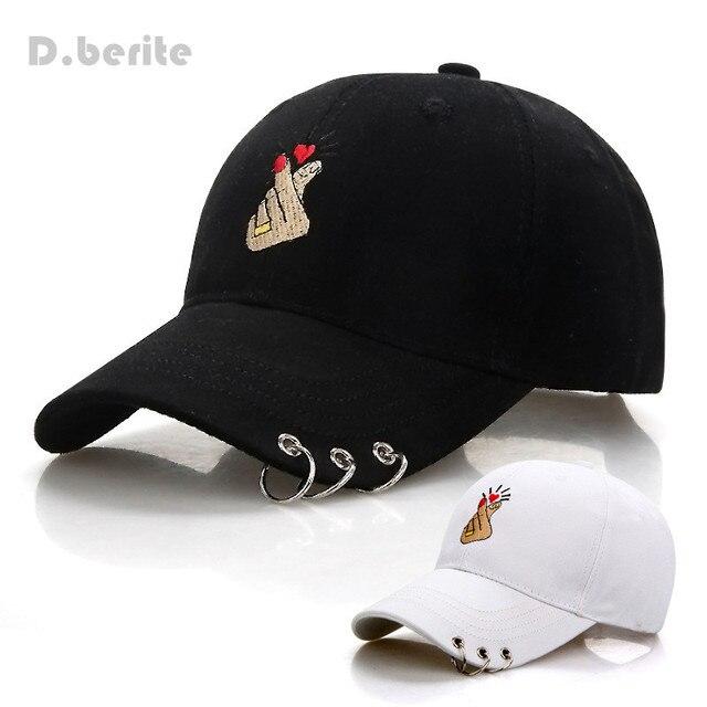 d148579c9b312 Dedo Gestos de Amor de verão Bordar Boné de beisebol Das Mulheres Dos  Homens Snapback Chapéus