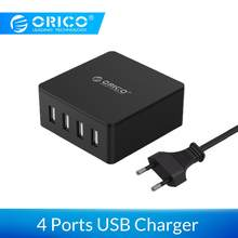 ORICO CSK-4U USB Charger ABS 4 Ports EU US UK Plug Universal Smart Phone Super Charger 5V 6.0A 30W Output for xiaomi mi9 iphone(China)