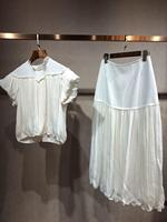 2019 женский модный плиссированный Набор для вышивания кукольные Топы + бедра юбка 2 комплекта 0601