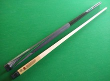 free shipping hot green billiards pool cue stick with 115mm leather tip 12 jointed maple shaft nineball ball arm cues