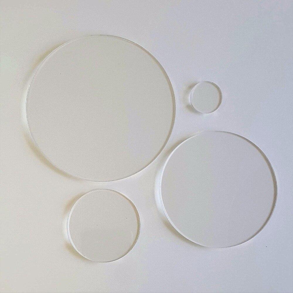 "3/"" INCH CIRCLE Clear 1//8/"" Acrylic Plexiglass Circle Round Disc Shape Plastic"