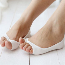 Women Cotton Peep Toe Shoes Socks  Invisible Low Cut  Sock Open Toe Toeless Shallow Mouth Liner Socks ankle sock Slipper hosiery