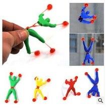Nuevos productos de novedad juguete slime Viscous escalada Spider-Man una pieza figura de acción divertidos gadgets PVC Spiderman para niños juguetes