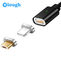 Elough E04 Magnetic Charger Magnet Cable Micro USB Cable Nylon Braided For IPhone 7 6 5s