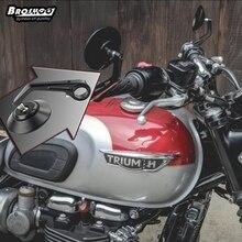 BROSHOO 1 Para CNC Motorrad spiegel Chrom Motor Spiegel Rearview 2016 fashion New cool motorrad seitenspiegel heißen auto styling