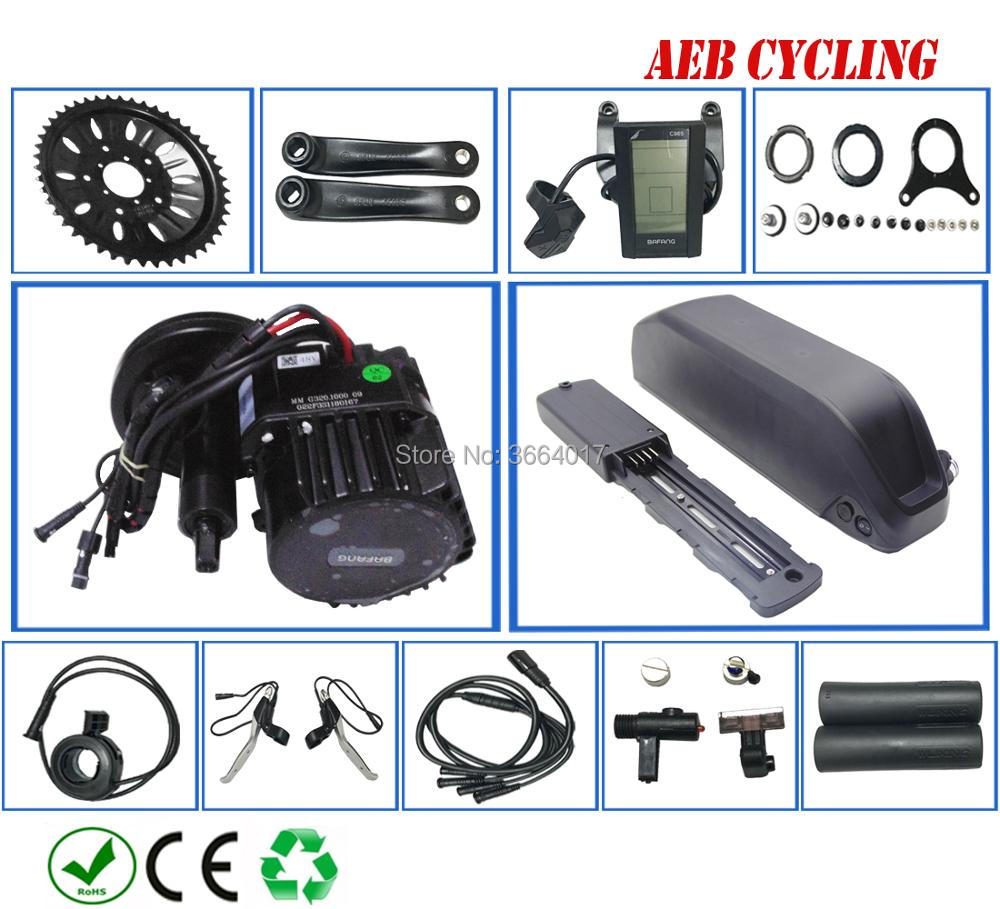 O envio gratuito de kits de BBSHD Bafang 48 V 1000 W do motor manivela mid com 52 V 16.5Ah bateria De iões de Lítio e-bicicleta para montanha bicicleta