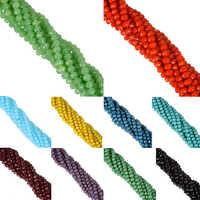 LNRRABC Novo! 6mm 100 peças/lote doce cor redonda facetada contas de corda de vidro cristal rondelles branco/preto/vermelho/verde/amarelo