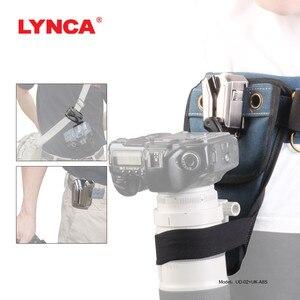 Image 2 - Correa de aleación para cámara Sony Canon Nikon SLR, accesorio de cintura para colgar en la cintura, con placa de hebilla, Correa SLR, placa de cama en la nube y billetera