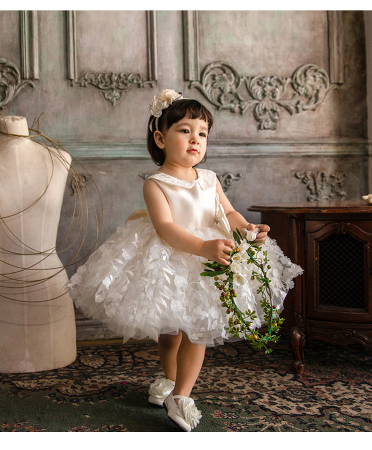 Cute Baby Girl Dress Floral Baptism Dress for Girls 1 Year Birthday Party Dress Christening Gown Infant Clothing Bebes Vestido