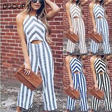 DUOUPA 2019 sexy womens striped summer sleeveless sling high waist ladies design bodysuit