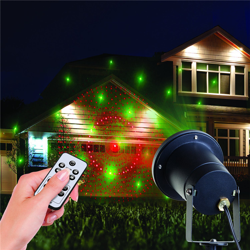 projector christmas Light Outdoor/ Indoor 8 Patterns Gobos Laser Light For Landscape Garden Yard Lawn Home House Seasonal Decor ...