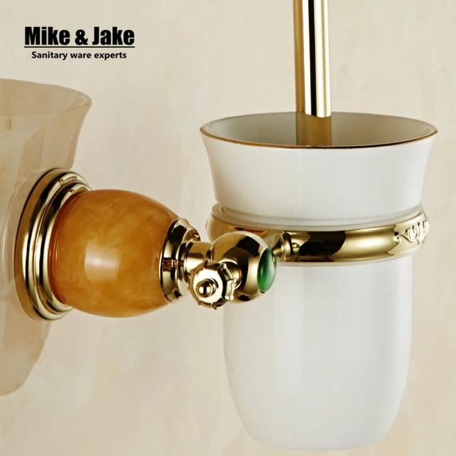 Luxus Golden green stein wc bürstenhalter mit Keramik tasse ... | {Badaccessoires stein 51}
