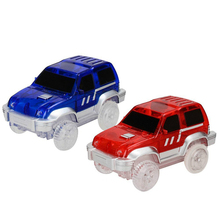 New Magical Glowing Race Track Car Electric LED Flashing Light Cars for Looping Run Tracks Toys Kids Christmas Gift
