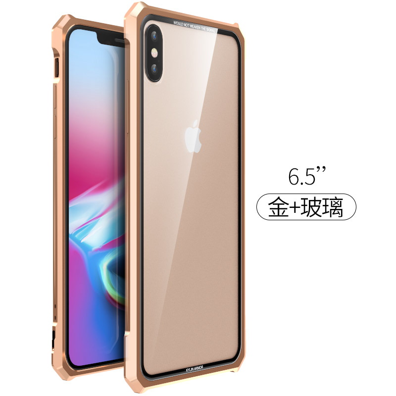 Image 3 - High end ultra thin metal frame Tempered glass mirror shell For  Iphone XS case cover FOR XS MAX FOR XR metal caseFitted Cases   -