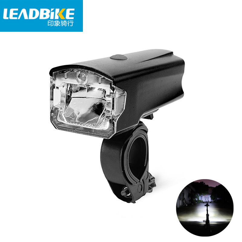 Leadbike 2017 Bicycle Light USB Rechargeable ABS LED Waterproof MTB Bike Front Flash Light Night Riding Cycling Safe Head Lamp wheel up bike head light cycling bicycle led light waterproof bell head wheel multifunction mtb lights lamp headlight m3014