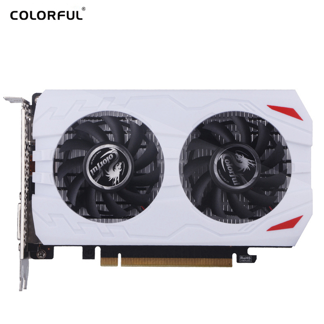 COLORFUL GeForce GTX1050Ti 4GB GDDR5 Graphics Card 1209-1392MHz PCI-E X16(3.0) DVI+HDMI+DP Video Card GTX1050Ti-4GD5 GAMING V5