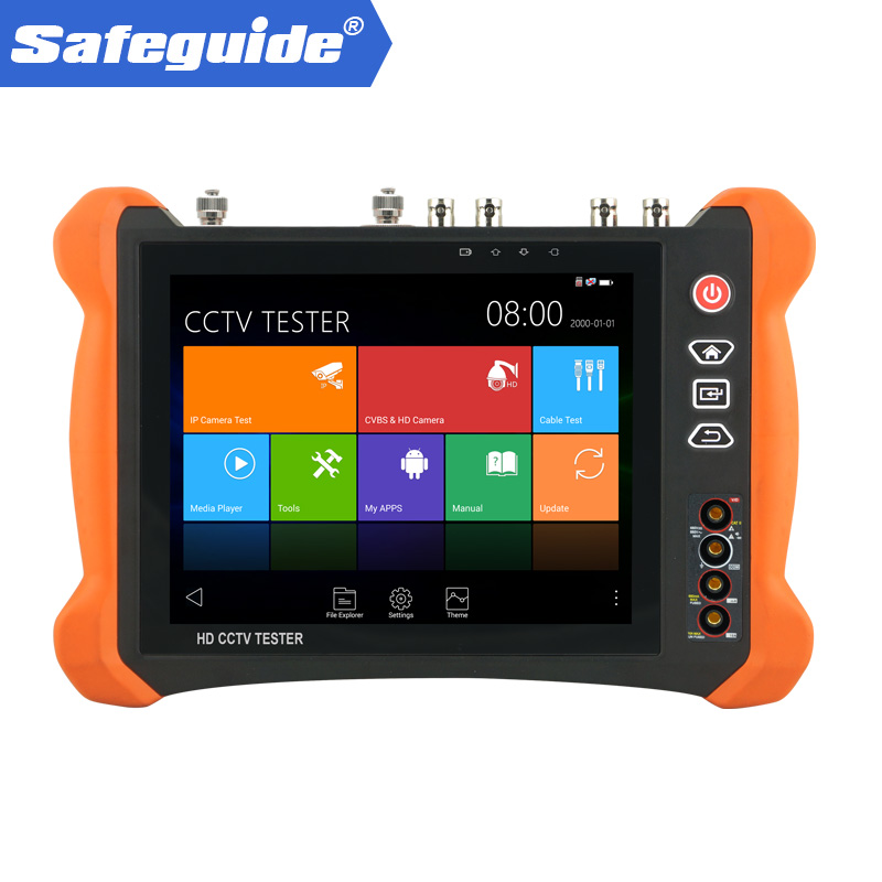 manufacture 8 inch unti-sunlight cover design top quality cctv wifi IP camera tester with 8MP CVI /8MP TVI /5MP AHD /EX-SDI