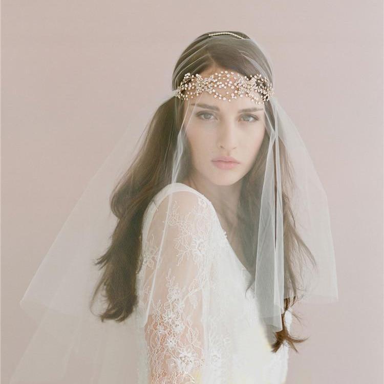 Handmade Bridal Headdress Ladies Hair Accessories Romantic Wedding Accessory White Headband Veil European and American Style hp 932xl cn053ae