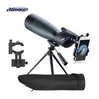 AOMEKIE 20 60X80 с фокусирующей оптикой для наблюдения точечных целей зум охотничья оптика HD BAK4 птица монокулярный прибор наблюдения телескоп с тр