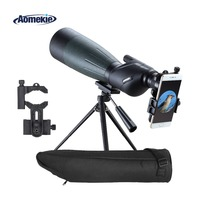 AOMEKIE 20 60X80 Spotting Scope Zoom Hunting Optics HD BAK4 Bird Watching Monocular Telescope with Tripod Smart Phone Holder
