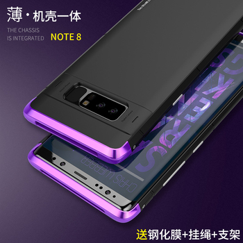 Showkoo Newest Smartphone Case For Samsung Galaxy Note 8 Cover 3 in 1 Metal aluminum +PC back 360 full Protect Shockproof Note 8 smartphone