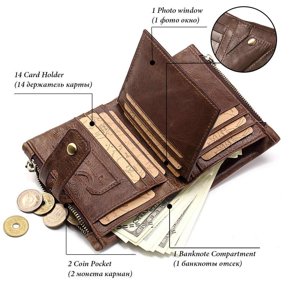 GZCZ мужской кошелек из натуральной кожи Маленькие Мужские кошельки на молнии и застежке модные Portomonee короткий брендовый Кошелек для монет Perse Carteira для Rfid
