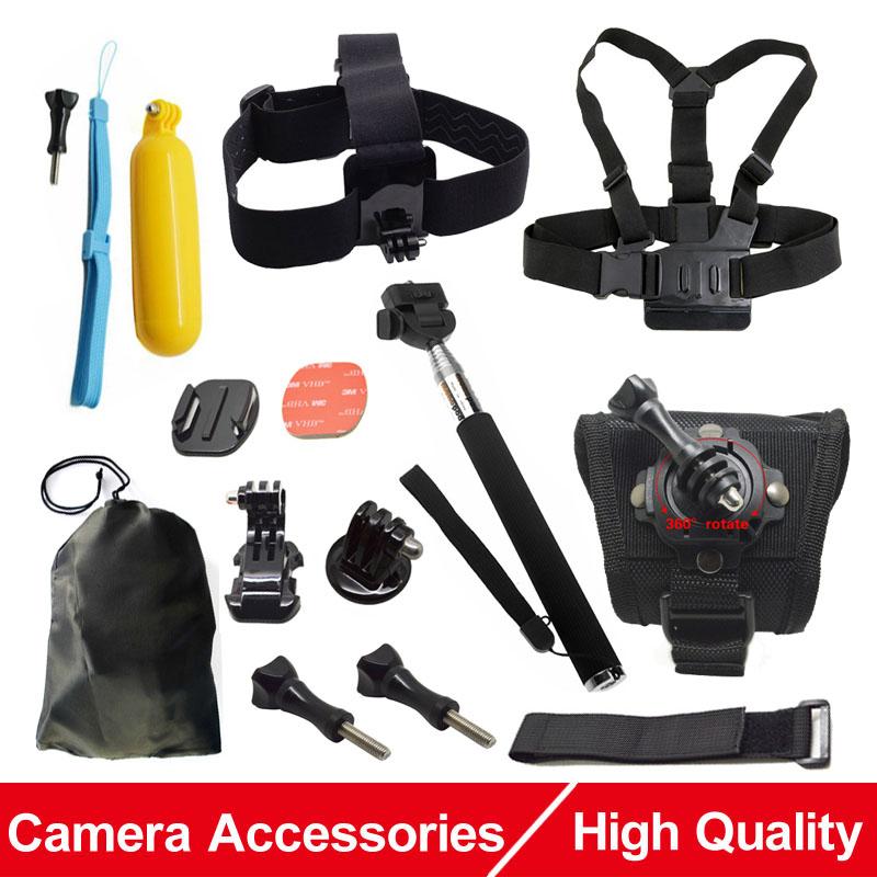 Prix pour Camera Action Accessoires Poitrine Tête Dragonne Manfrotto Flottant Bobber mont pour Gopro Hero 4 Xiaomi Yi SJCAM SJ4000 EKEN H9