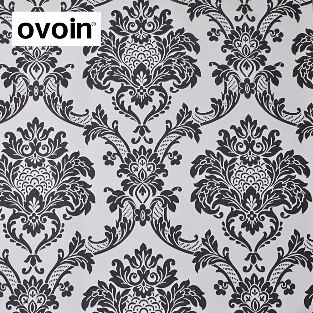 online buy wholesale contemporary wallpaper from china  - european style black white damask wallpaper contemporary textured pvc wallpaper waterproof(china)
