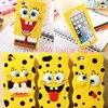 New 3D Cartoon SpongeBob Soft Silicon Case Back Cover Skin Bikini Bottom Boat Phone Bags For iphone 7 4 4S 5 5S SE 6 6S 7 Plus